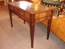 Continental Mahogany two drawer desk