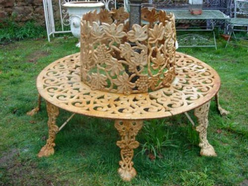 Pin round tree bench 159999 on pinterest Circular tree bench