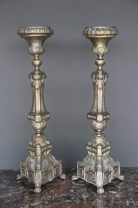 2x Candle Stand Candlestick 5armig Brass 41cm Baroque Gold Antique Candl 81202