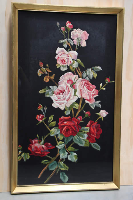 Earnest Vintage Old European Signed Original Oil Panel Painting Flowers Still Life Paintings