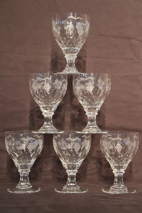 Antique Glassware For Sale Crystal Cut Glass Precious Vase Wine Glasses Decanters