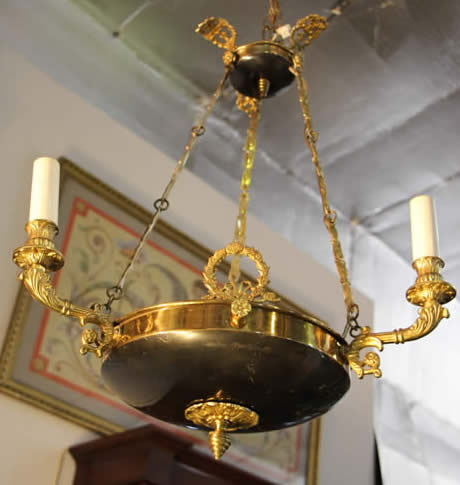 Title french empire style ormolu hanging lamp dimensions