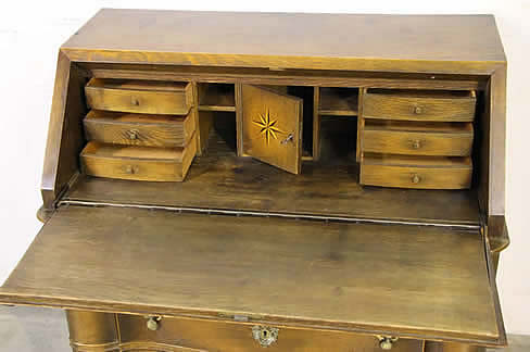 A good Dutch baroque ornate desk or bureau chest. The ornate carved front  chest with fall front desk top. This opens with the original key and has  automated ... - Antique Furniture For Sale Dining Tables Seating Lounge Suites