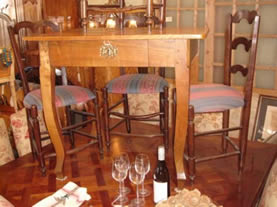 Provincial cherrywood table well shaped